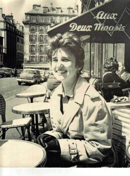 Feather Meston at Deux Magots, Paris, France, 1960