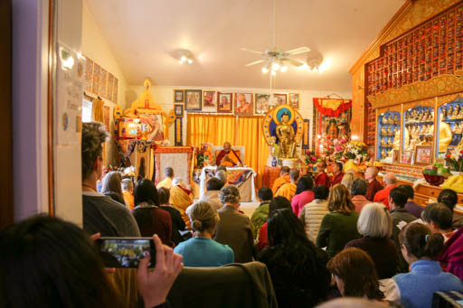 Lama Zopa Rinpoche at Dorje Chang Institute, New Zealand, May 2015. Photo by Ven. Thubten Kunsang.