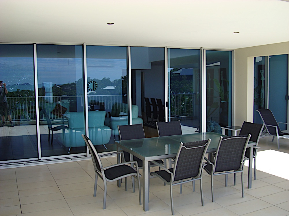 The deck of my 3 bedroom townhouse (I was upgraded)