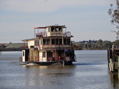 Captain Proud - the boat for my lunch cruise up the Murray
