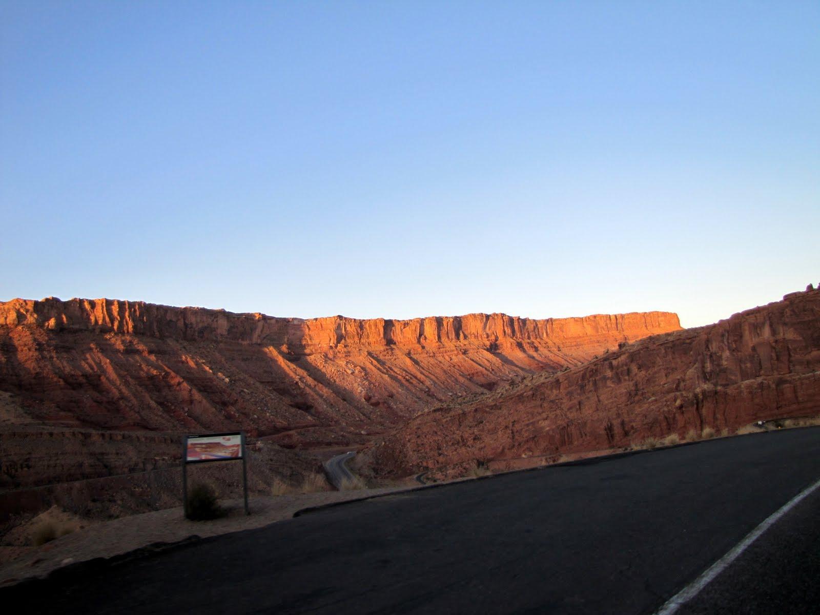 Sunrise at Arches National Park's Entrance