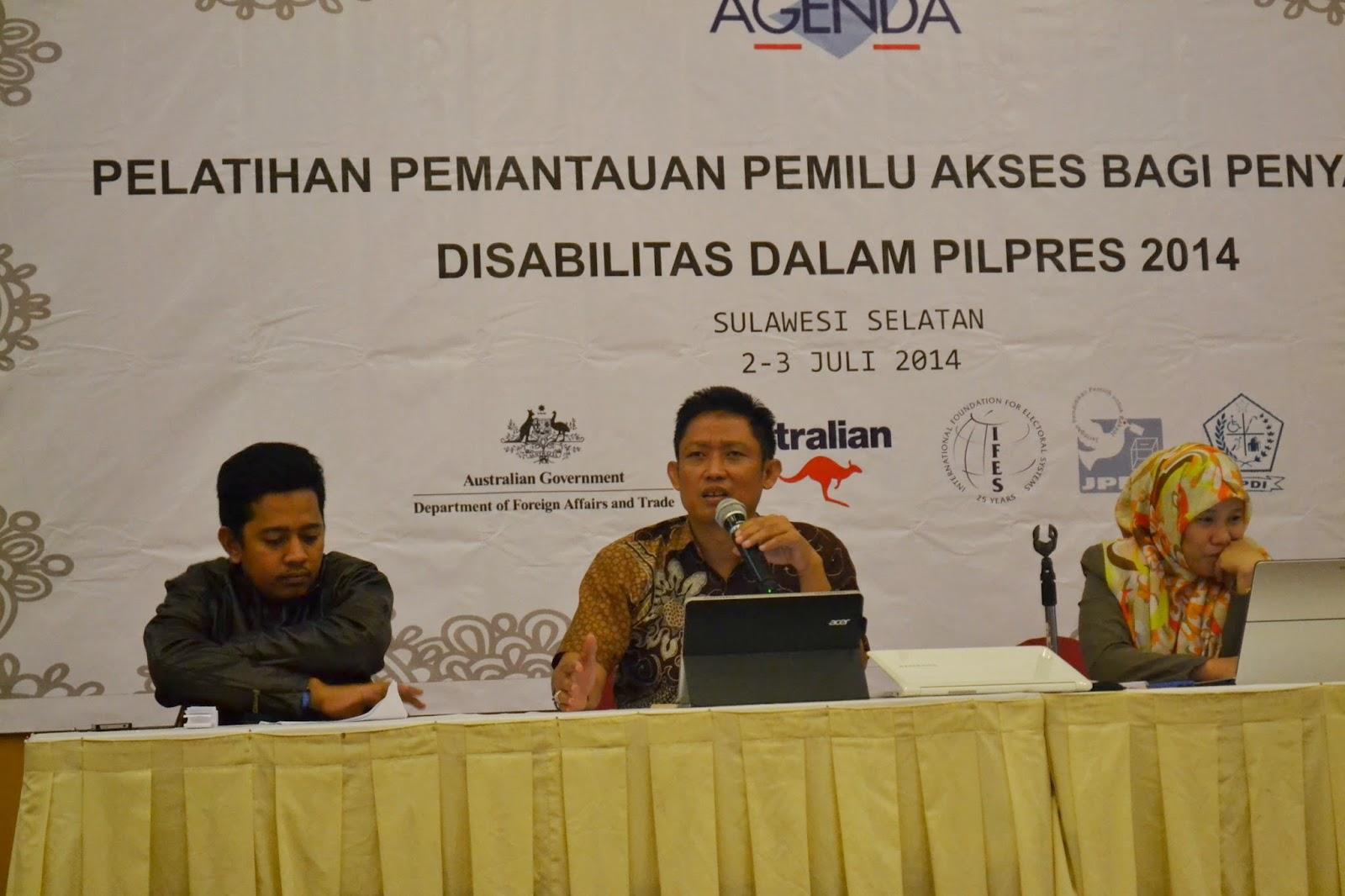 South Sulawesi KPU  and awaslu at Observer Workshop 2-3 July 2014