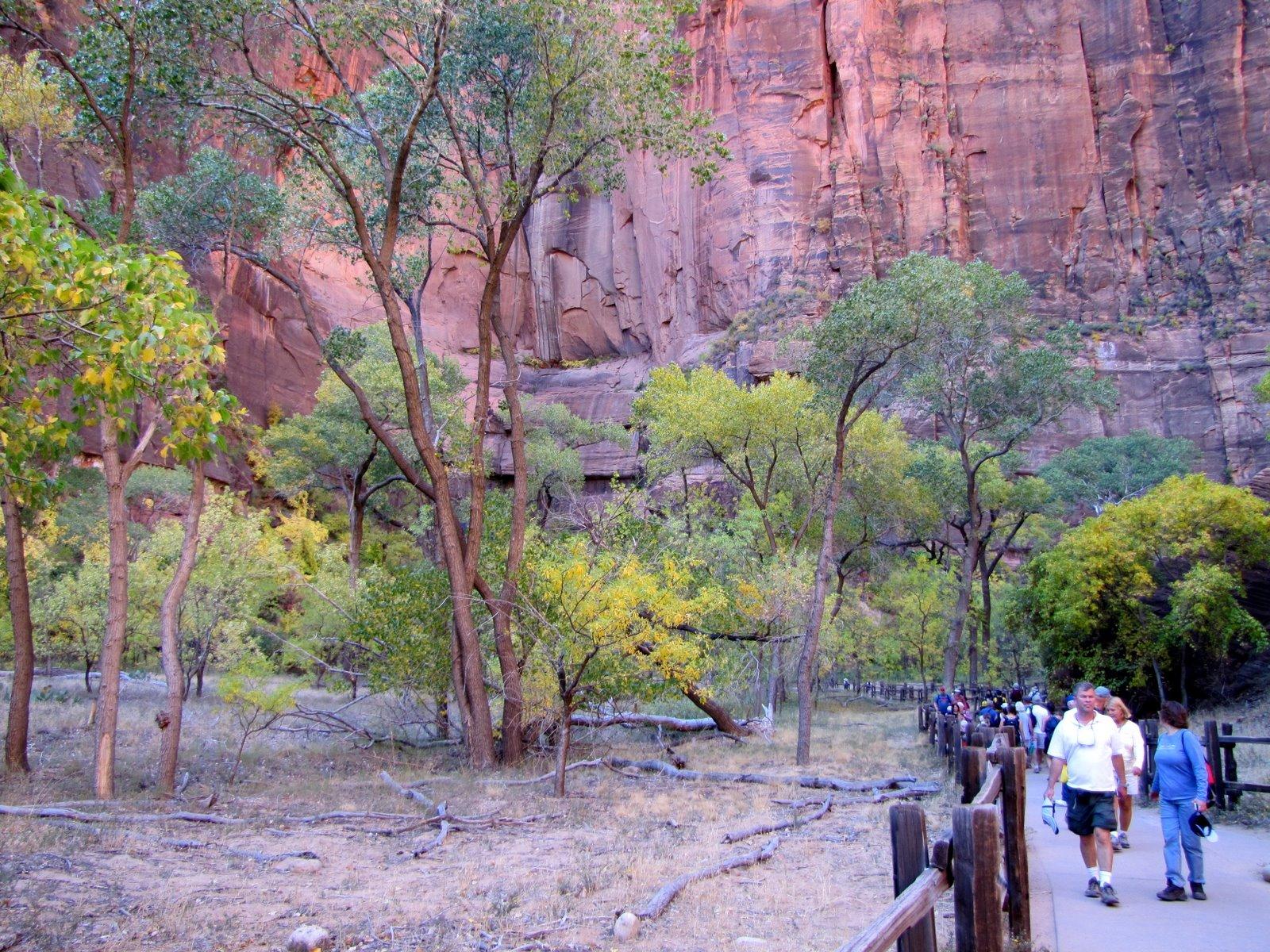 Irány a kiszáradt vízesés  Walking to the dry waterfall