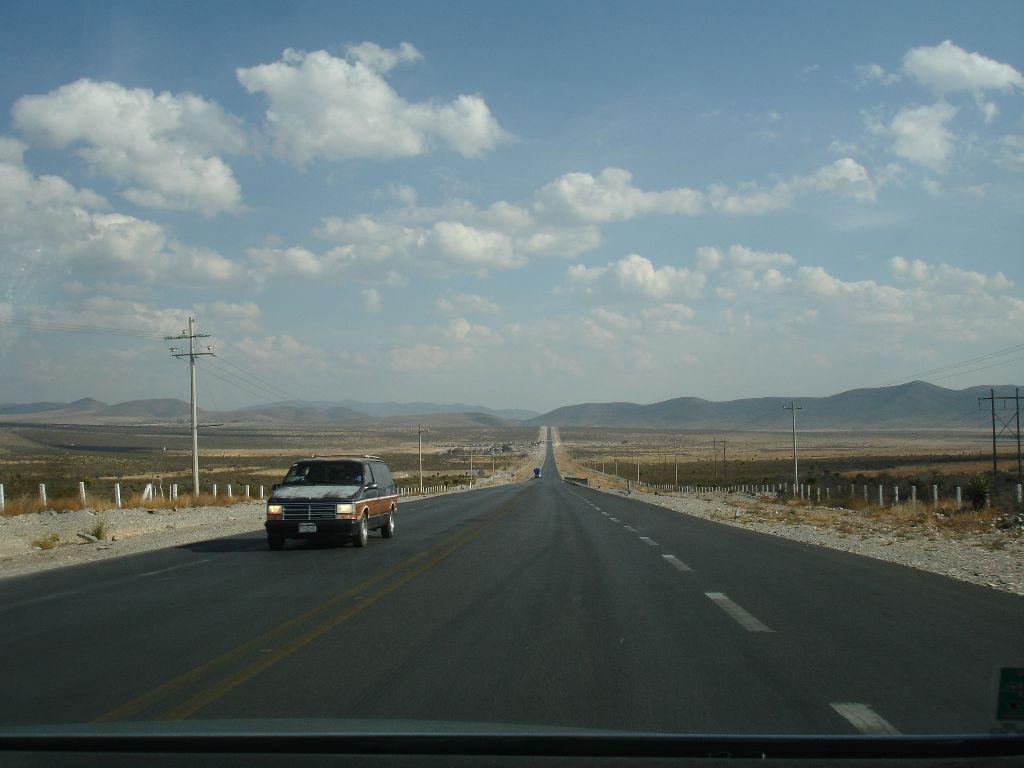 kurz nach der Abfahrt in Saltillo