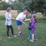 A legkisebbek is részt vesznek a sportos programban.