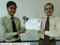 2nd Prize Quiz -Adeshwari Roy 2014 -2015