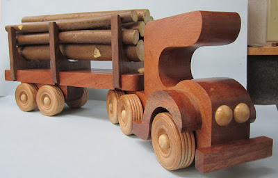 DP184A - Log Truck from berrybasket.com  Mahogany and Black Walnut