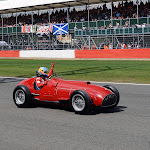 Fernando Alonso drives old Ferrari F1 car