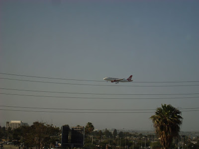 The view from my LA airport hotel. I was right on the approach!