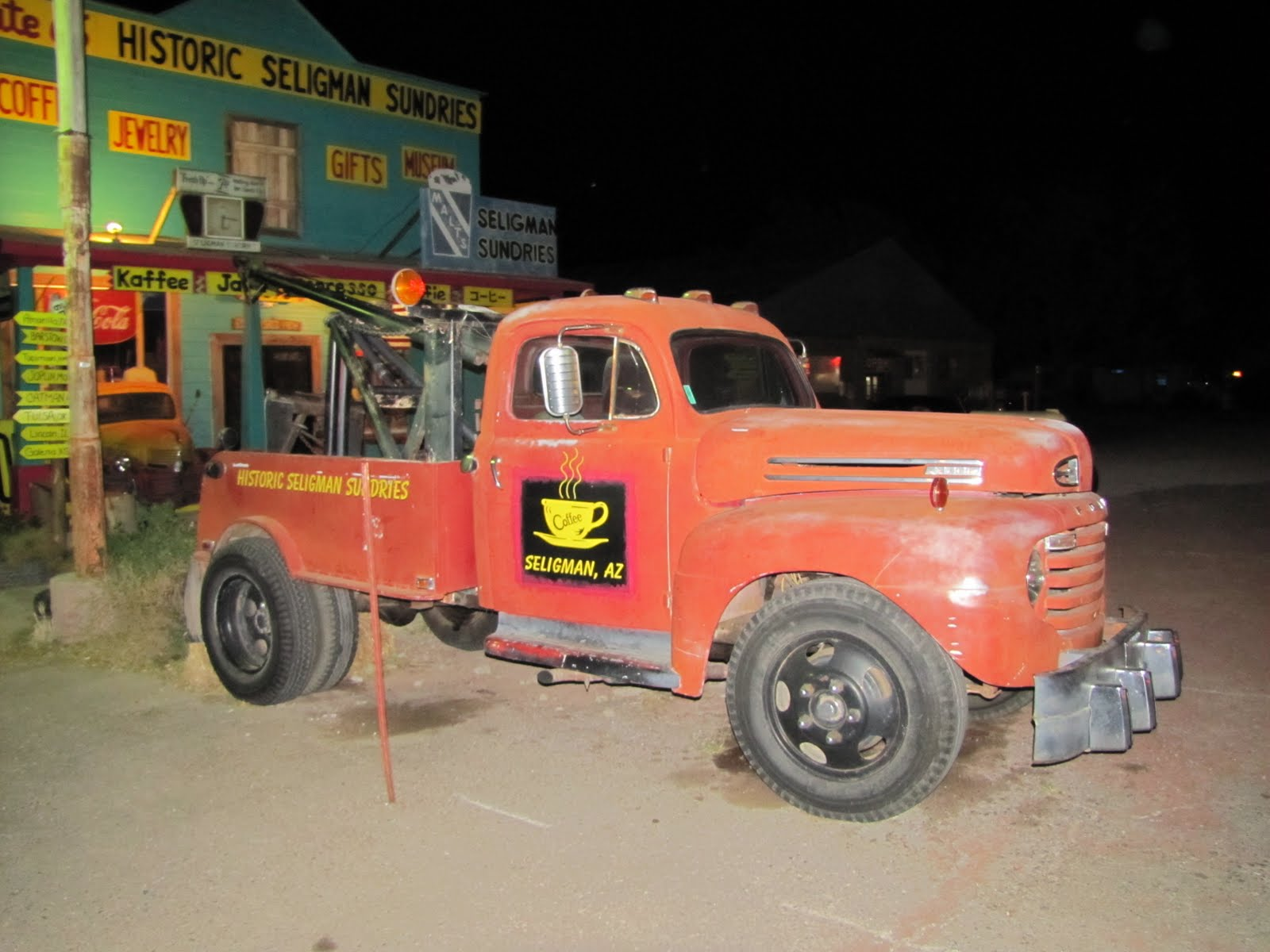 Route 66, Arizona, 1948 Ford F6 Tow Truck