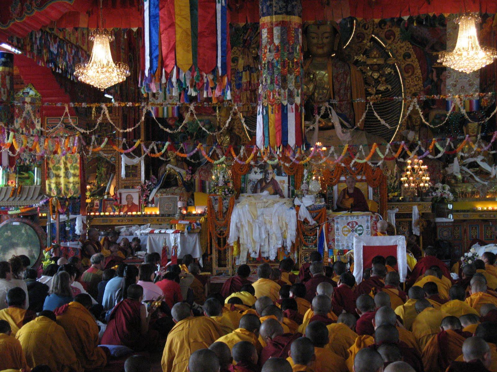 Long life puja at Kopan Monastery, December, 2008.