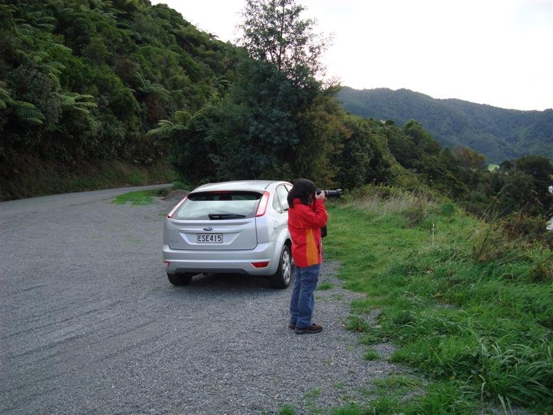 Thu and the rental at a photo stop