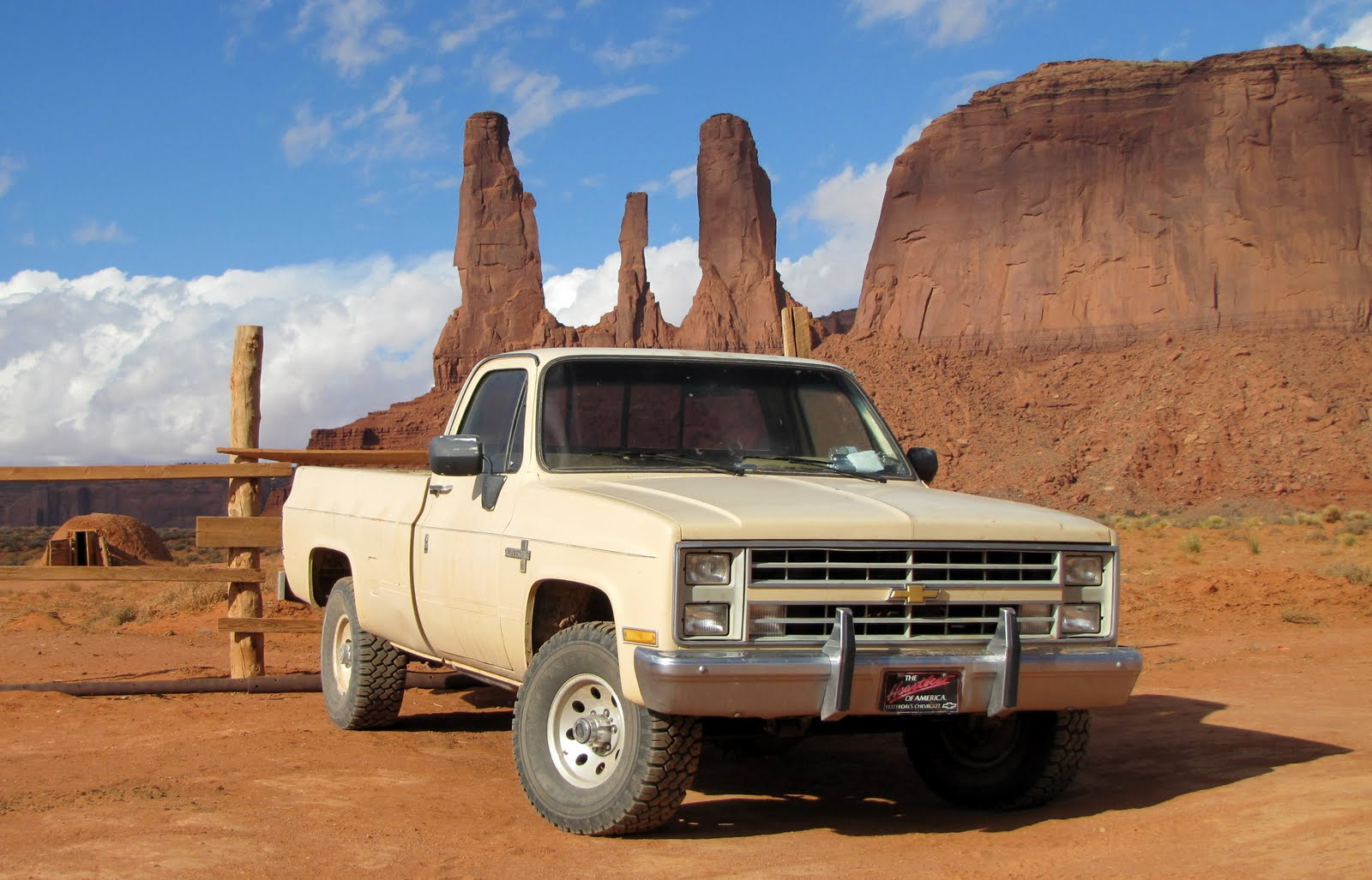 Pickup in Monument Valley, Arizona, 1984 Chevrolet C10