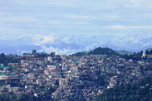 Shimla as viewed from Tara Devi Temple