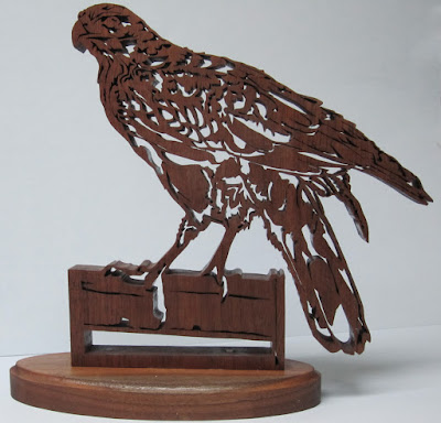 Harris Hawk From Scoller ltd Fowler  Black Walnut