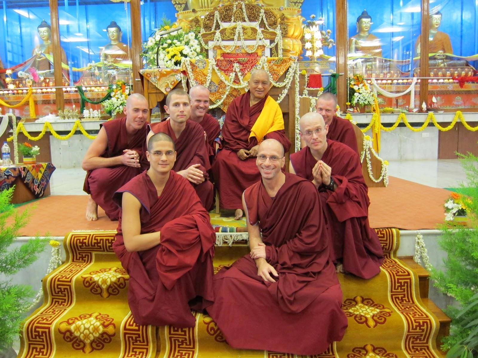 Sangha of IMI house at Sera Je Monastery