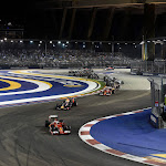 2015 Singapore GP going into 2nd corner