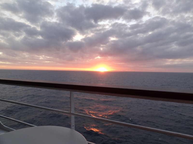 Sunset on the balcony......