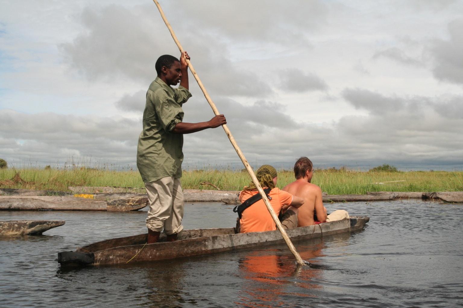 Mokoro trip for bloody whites