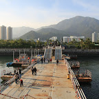 Last look back before boarding the huge ship