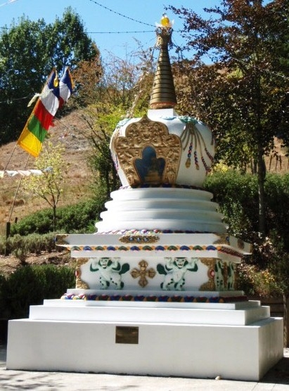 Long Life Stupa at Chandrakirti Meditation Centre, New Zealand.