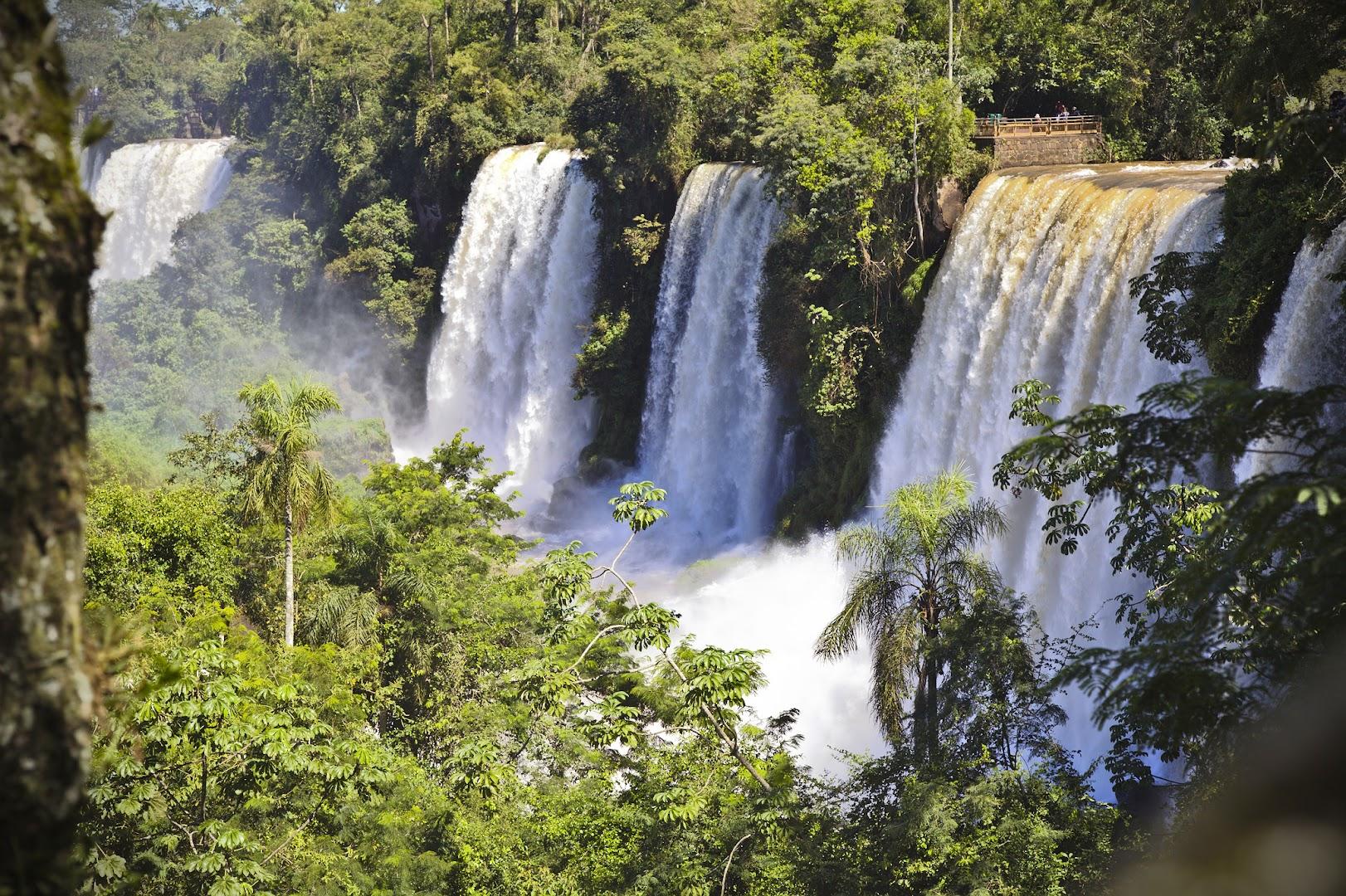 Iguazu has hundreds of smaller falls all around