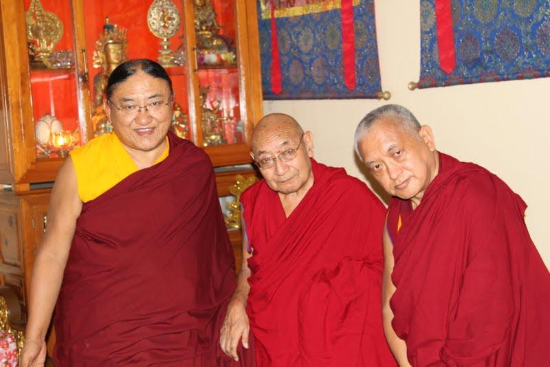 His Holiness the Sakya Trizin, Dhakpa Rinpoche, Lama Zopa Rinpoche