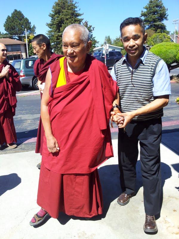 Rinpoche and master painter Gelek