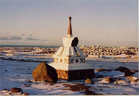 Descent Stupa, Kopavogur, Iceland.