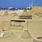 One of tens of sand art installations along the beach. You are supposed to pay for viewing.