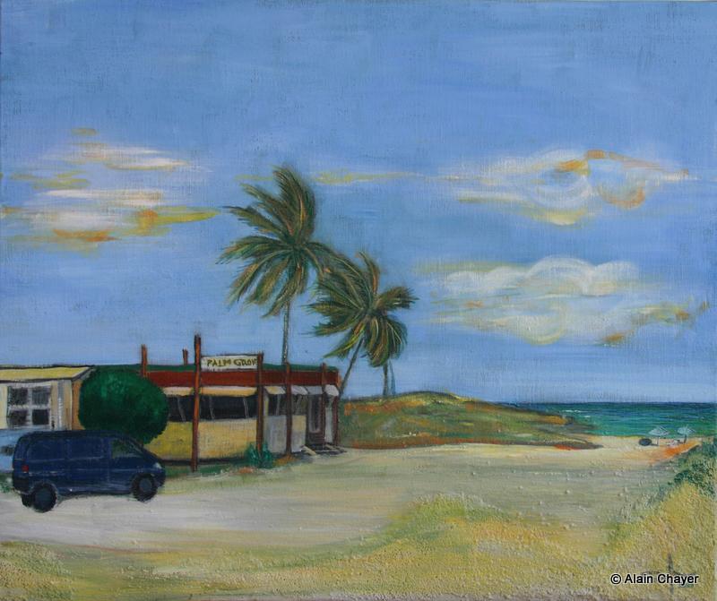 114 - Palm Grove - 2005 46 x 55 - Acrylique sur toile