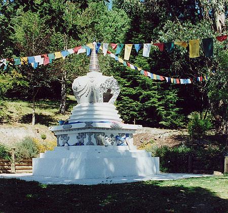 Victory Stupa at Chandrakirti Buddhist Meditation Centre, Nelson, New Zealand.