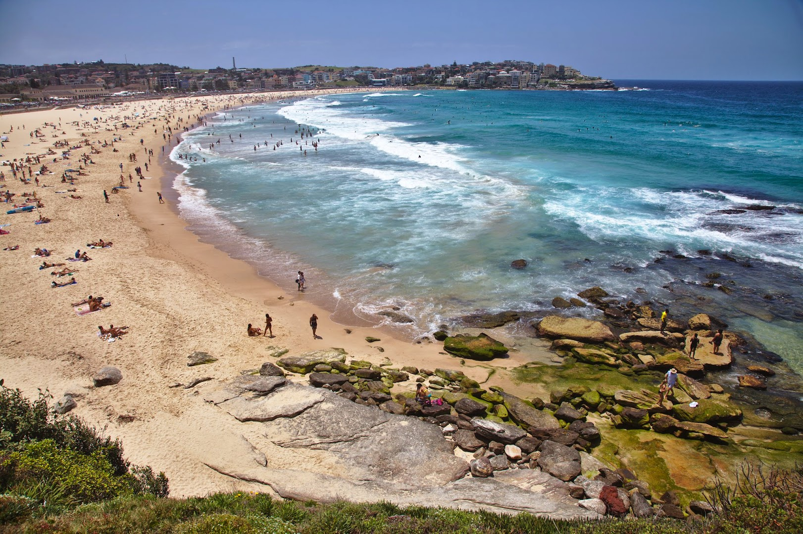 The famous Bondi beach