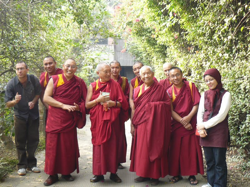 Dagri Rinpoche, Lama Zopa Rinpoche and Khensur Rinpoche Lama Lhundrup