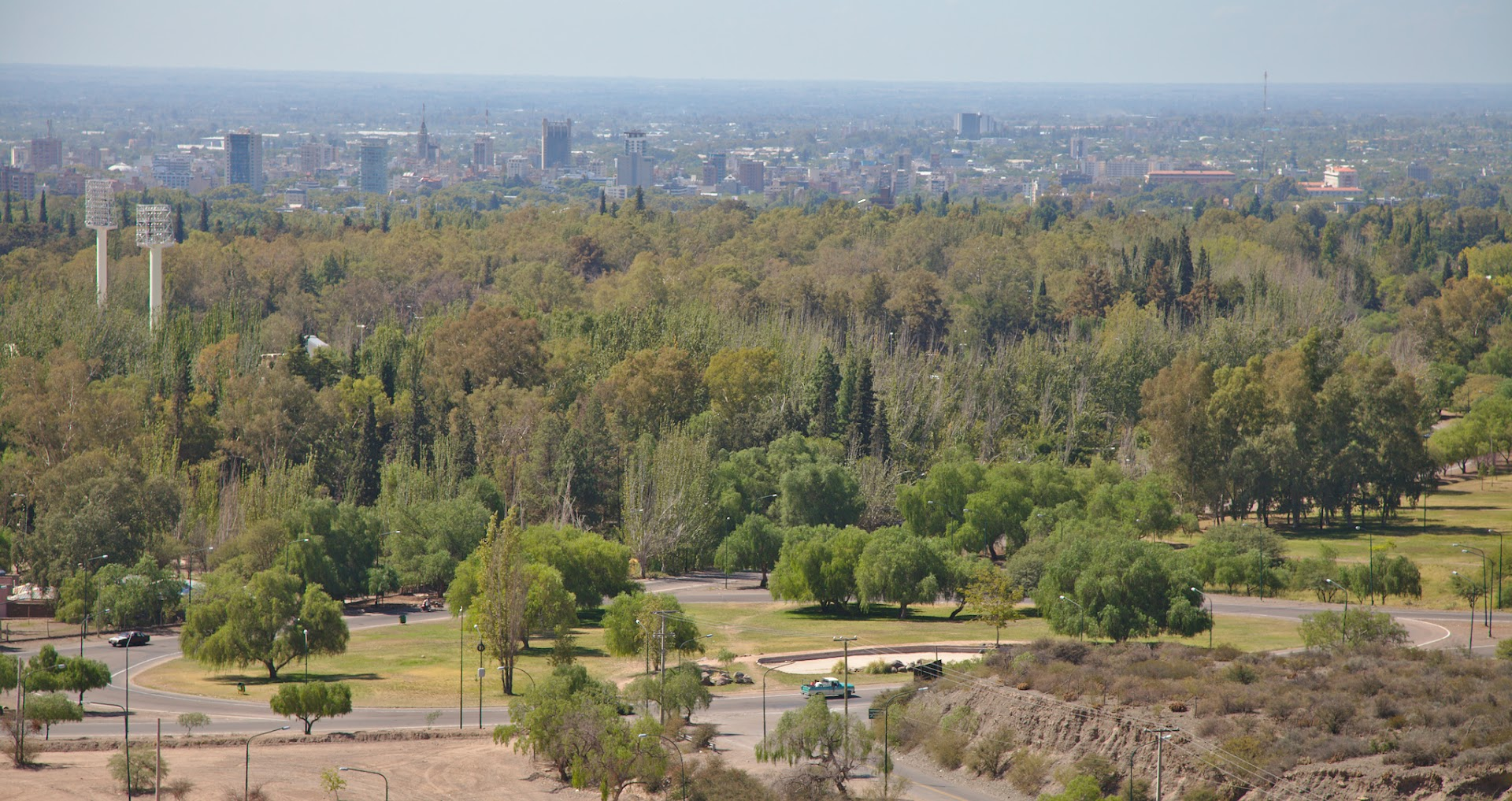 Mendoza is very green, not a single street without trees