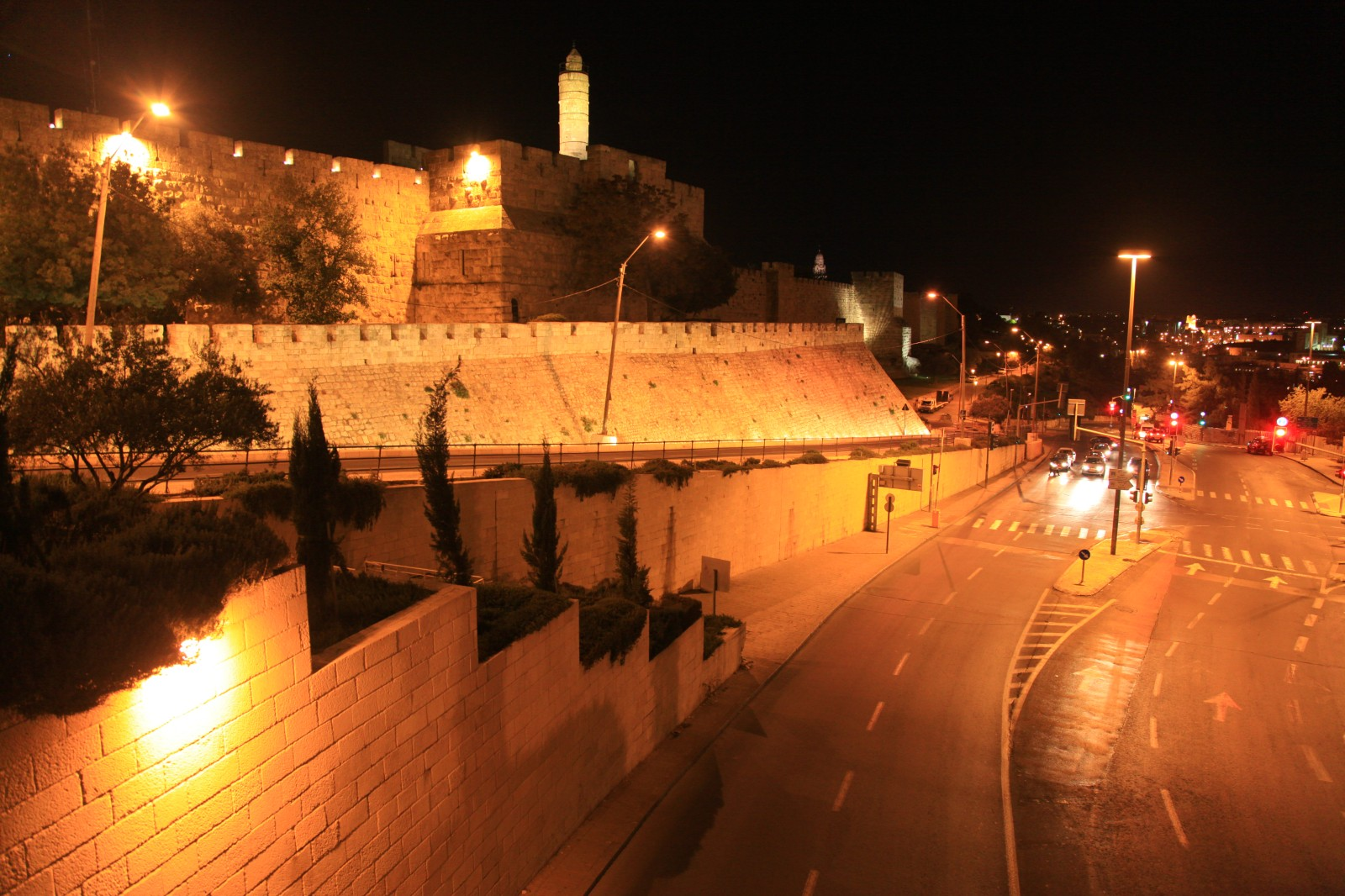 The southern edge of the Old City