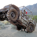 Jeep scultpure is one of the amazing Galleta Meadows sculptures scattered around Borrego Springs.