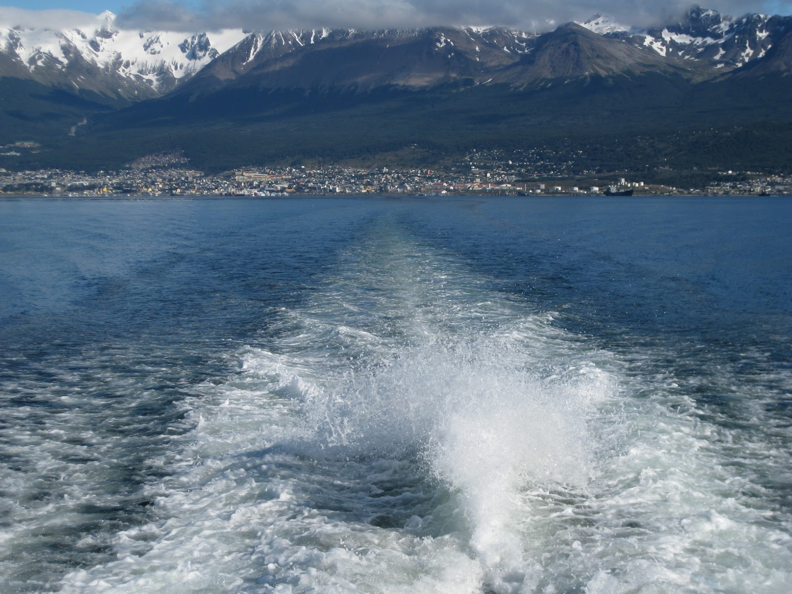 Cruising out of Ushuaia