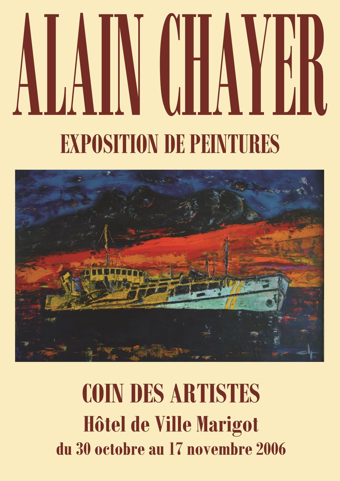 EXPOSITION AU COIN DES ARTISTES - MARIGOT - SAINT MARTIN - 30 OCTOBRE / 17 NOVEMBRE 2006