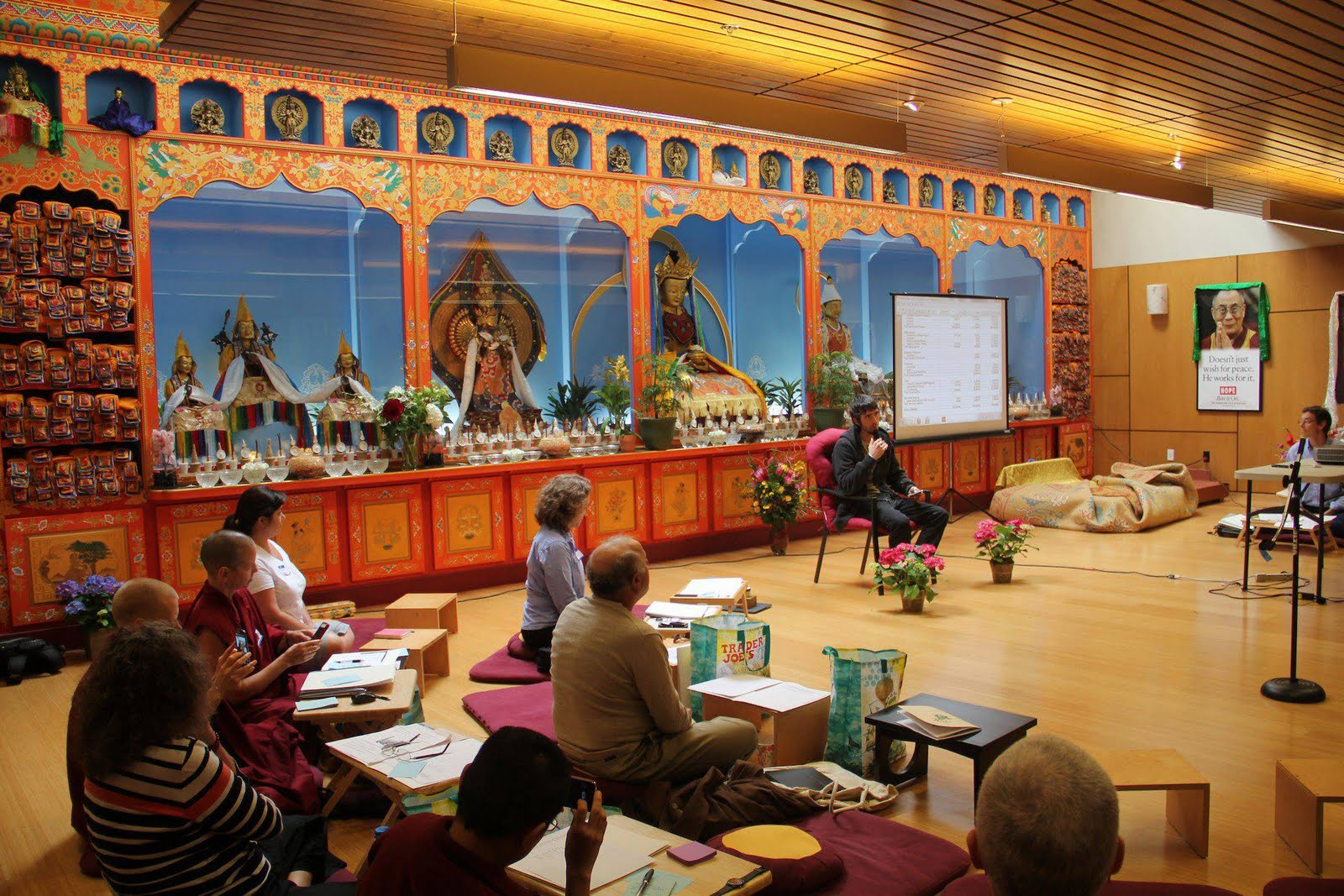 Ösel gives a talk to participants of the North America Regional Meeting at Maitripa College, May 2013.