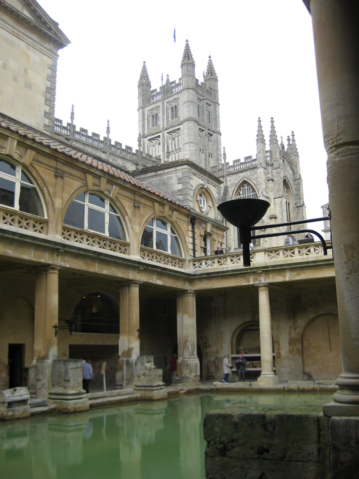 Baths, with church in background