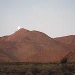 Moon Set behind Sombrero Peak