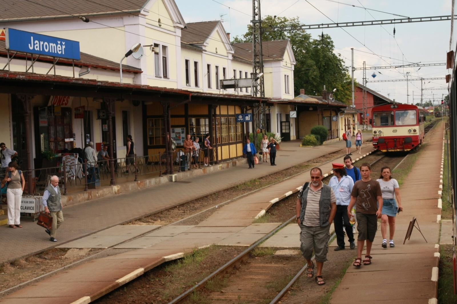 Jaroměř international train station