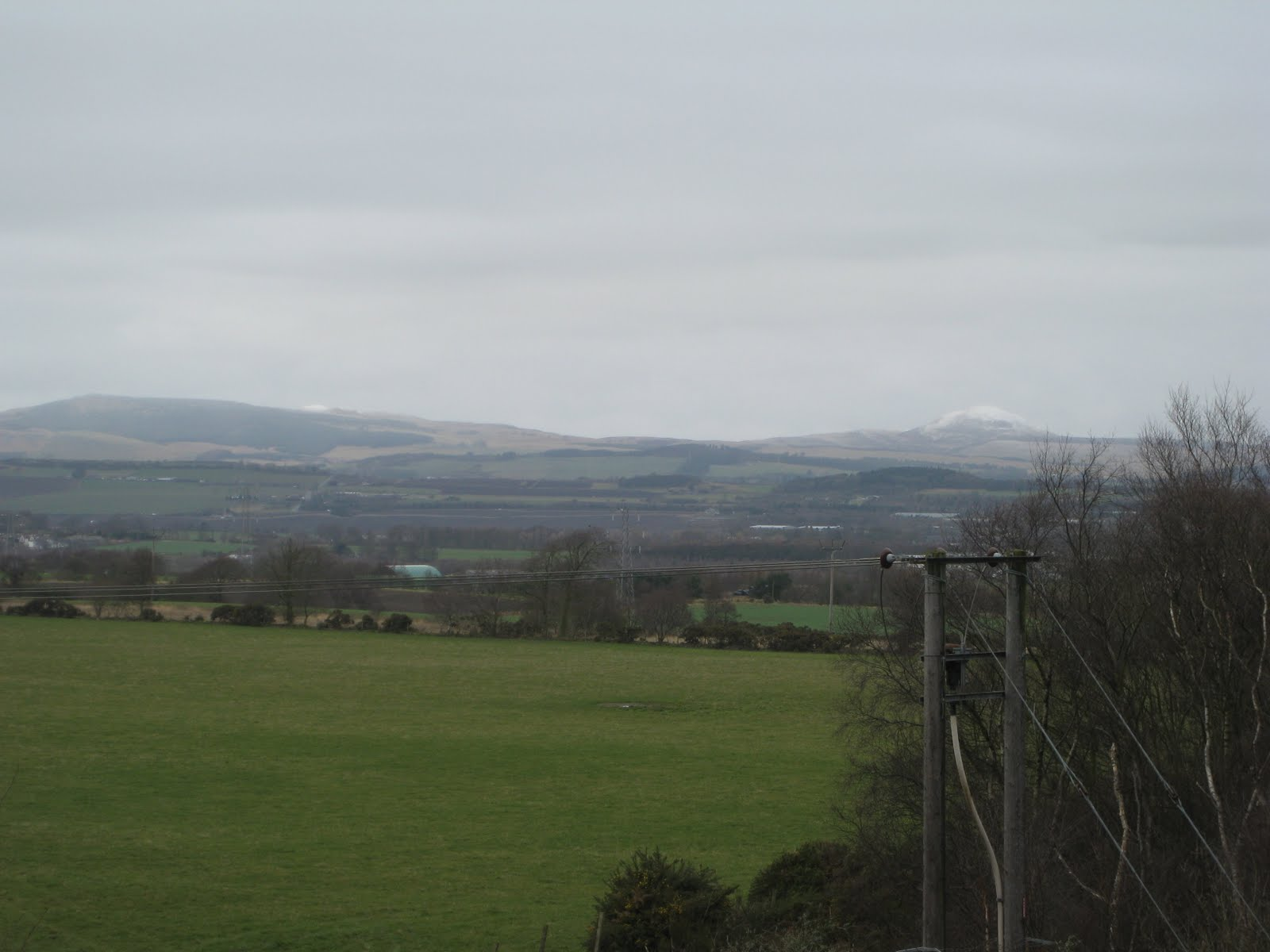 Note the snow on the hills in Fife