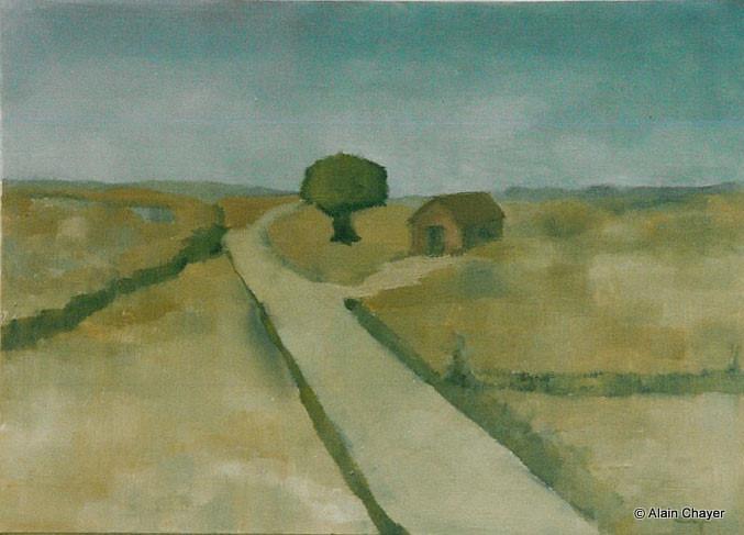 033 - Paysage - 1993 46 x 33 - Acrylique sur toile