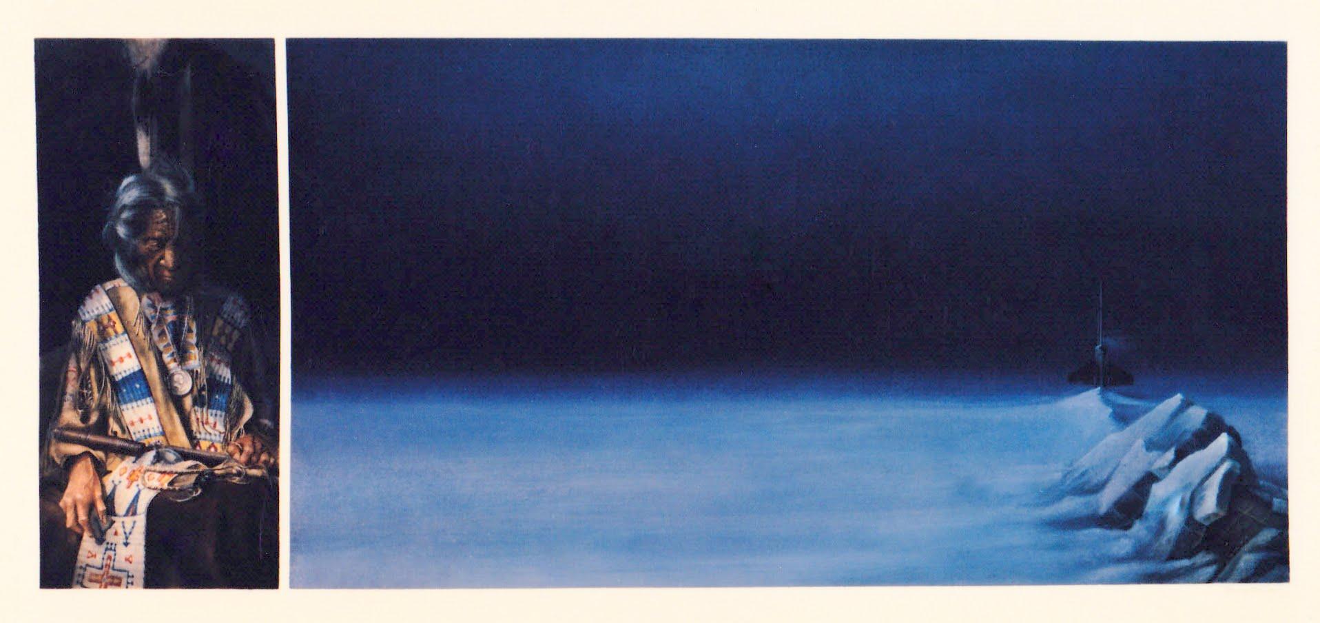 Endschaft   1990   Aquarell   38 x 75 cm