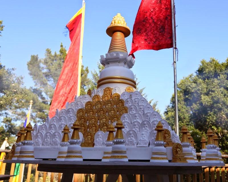 Tsa-tsas at Kachoe Dechen Ling, Aptos, California, US, May 2014. Photo by Ven. Thubten Kunsang.