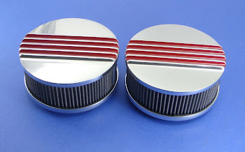 """6 7/16"""" cast aluminum finned, perfect for Dual Quad. 115.00 each un-painted."""