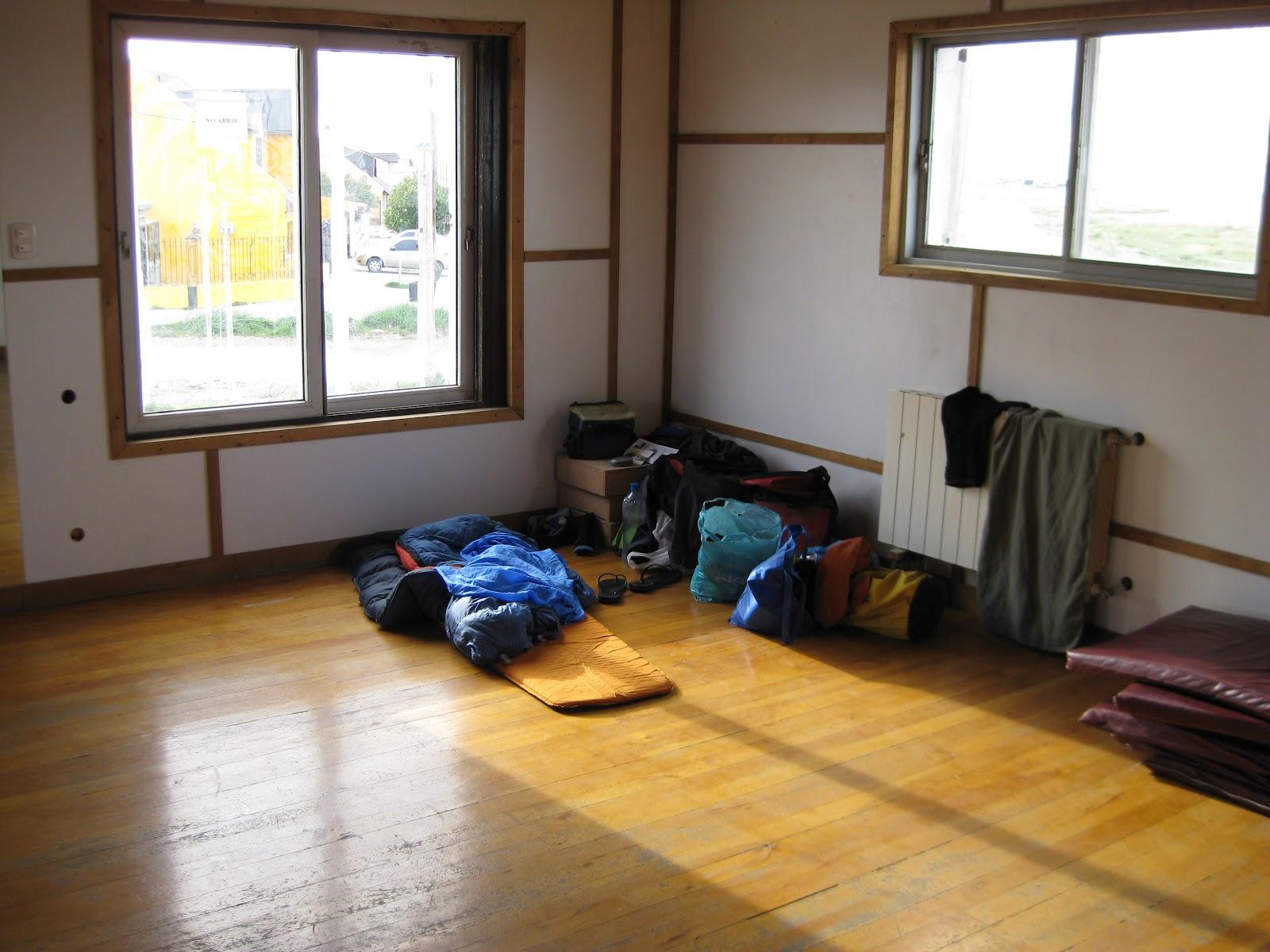 Sleeping in a dojo at Club Nautico