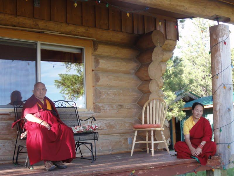 Rinpoche and Khadro la at Buddha Amitabha Pure Land, WA